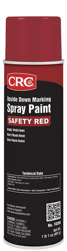 Upside Down Marking Paints-Safety Red, 17 Wt Oz