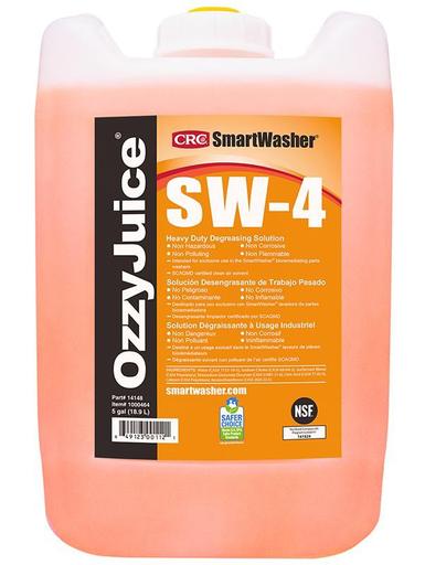 SmartWasher® OzzyJuice® SW-4 Heavy Duty Degreasing Solution, 5 Gal