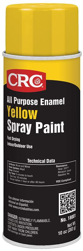 CRC 18001 YELLOW SPRAY PAINT