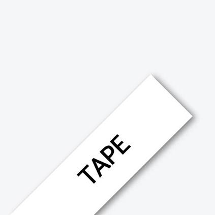 """BTH 12mm (0.47"""") Black on White Flexible ID Tape, 8m (26.2 ft)"""