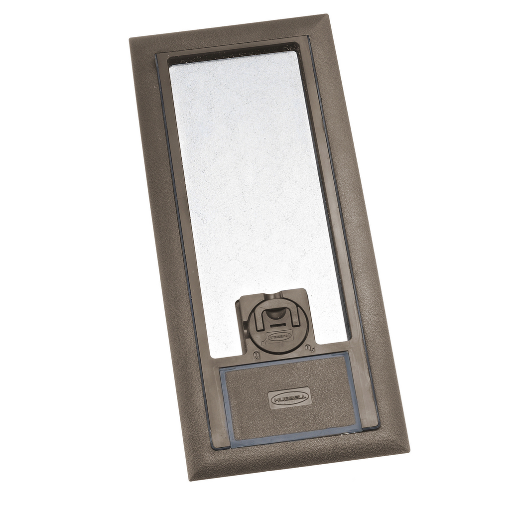 Hubbell Wiring Devices 3SFBCBRA 11.88 x 5.2 Inch Brown Reinforced Non-Metallic Floor Box Cover