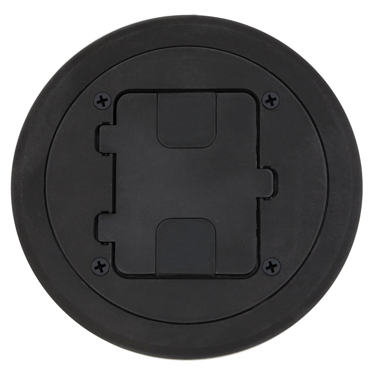 hubbell rf406bk black floor box cover and leveling ring