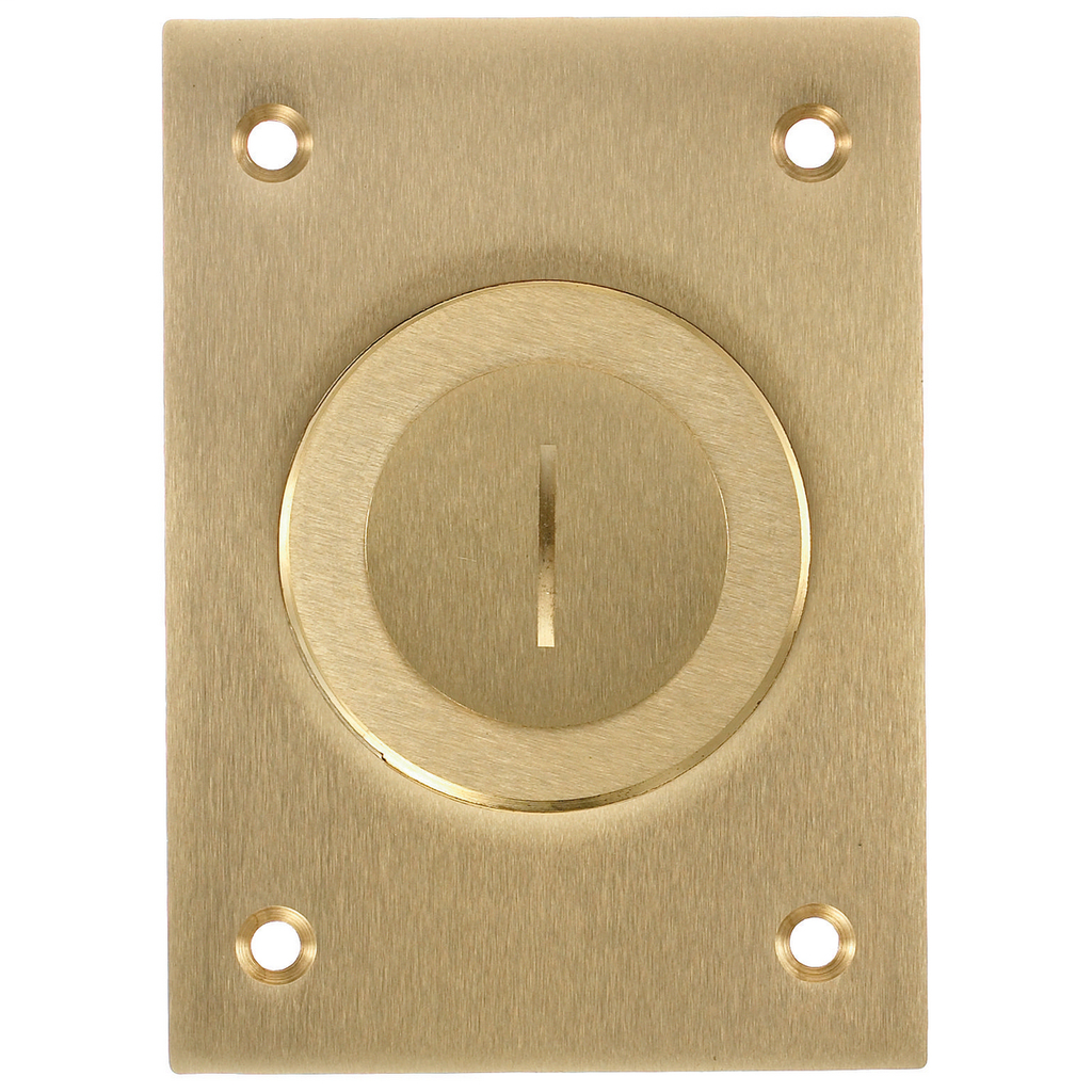 Hubbell Wiring Devices S2625 2-1/8 x 1 Inch Brass Rectangular Floor Box Cover