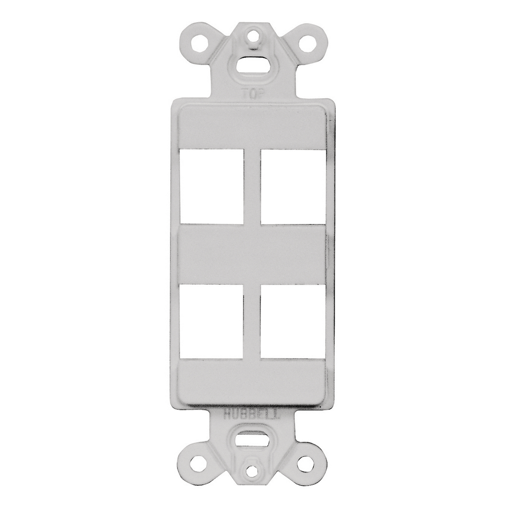 Hubbell Wiring Devices ISF4OW 1-Gang Office White 4-Port Face Plate