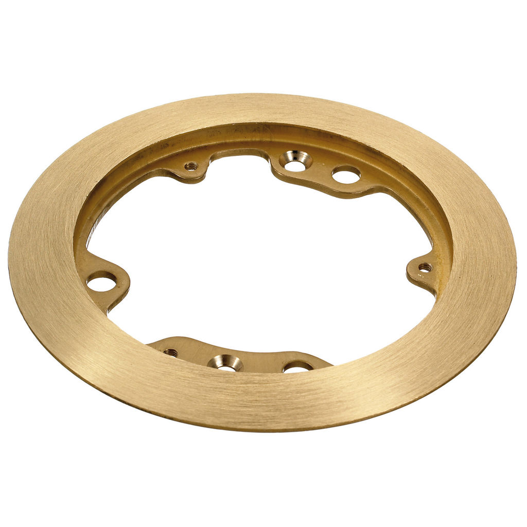 Hubbell Wiring Devices S3182 5.25 Inch Brass Round Floor Box Carpet Flange