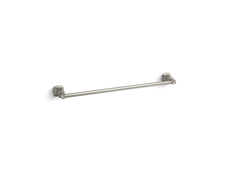 "Margaux® 24"" towel bar, Vibrant Brushed Nickel"
