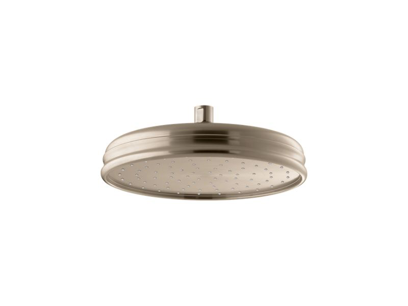 """10"""" Traditional Round 2.5 gpm rainhead with Katalyst® air-induction technology, Vibrant Brushed Bronze"""