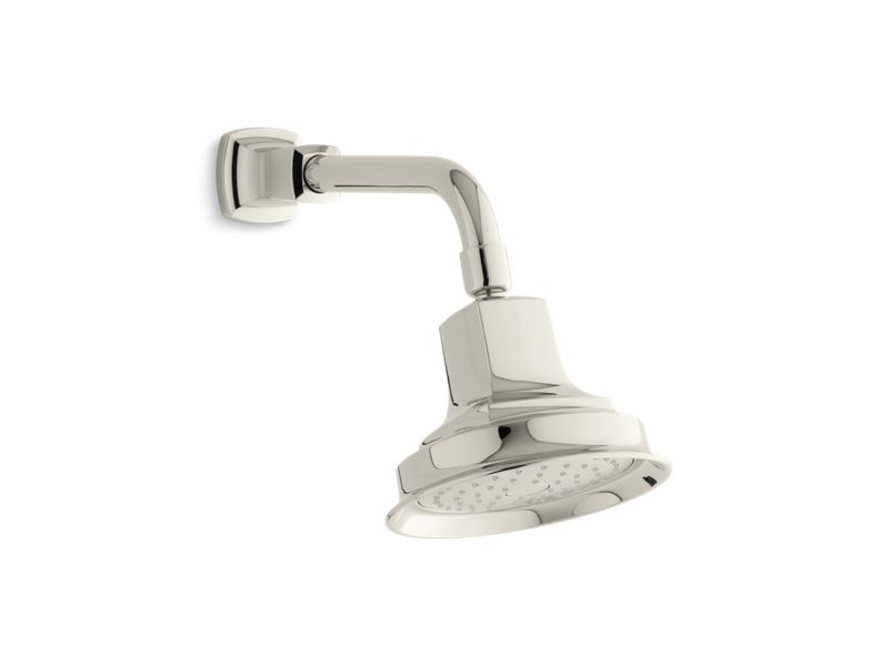 Margaux® 2.5 gpm single-function showerhead with Katalyst® air-induction technology, Vibrant Polished Nickel