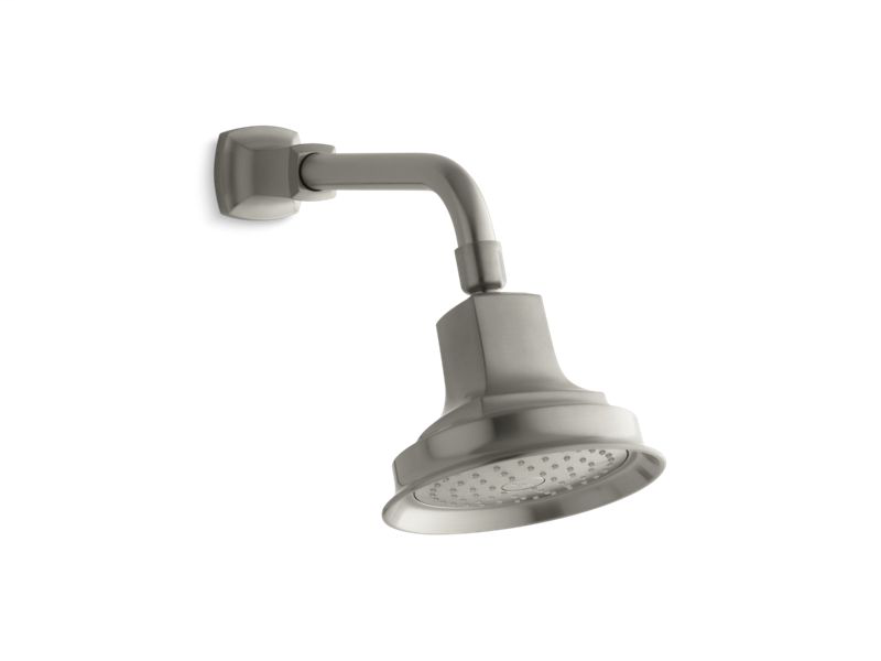 Margaux® 2.5 gpm single-function showerhead with Katalyst® air-induction technology, Vibrant Brushed Nickel