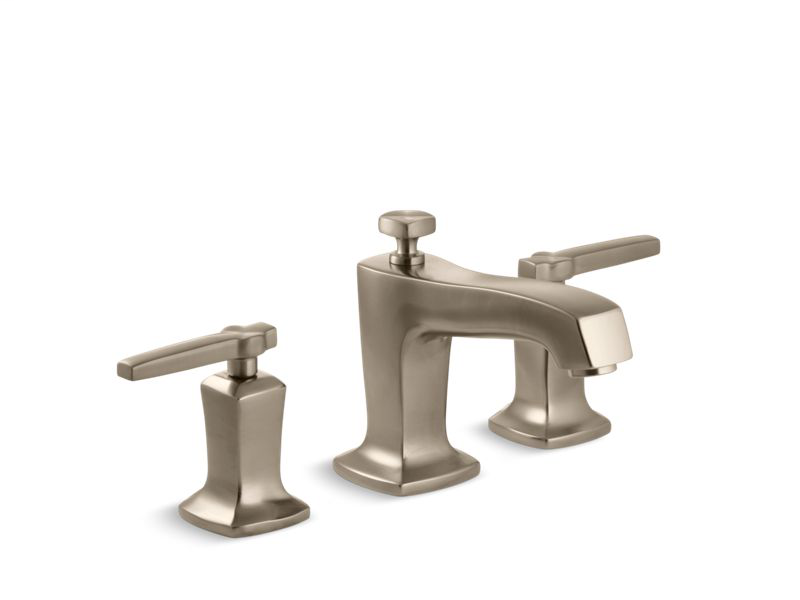 Margaux® Widespread bathroom sink faucet with lever handles, Vibrant Brushed Bronze
