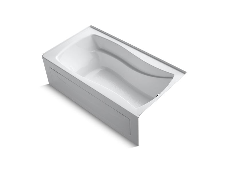 "Mariposa® 66"" x 36"" alcove bath with integral apron and right-hand drain, White"