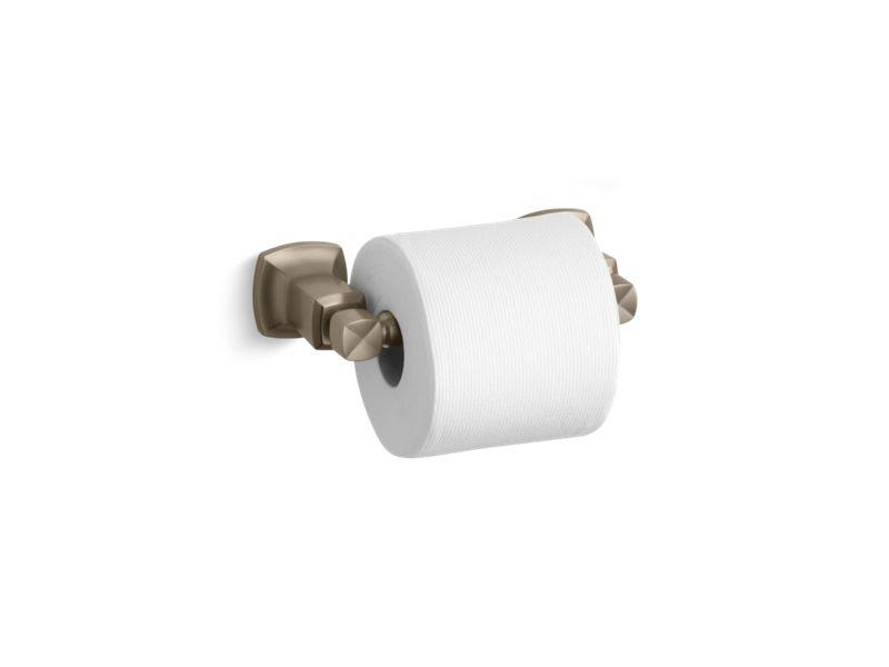 Margaux® horizontal toilet tissue holder, Vibrant Brushed Bronze
