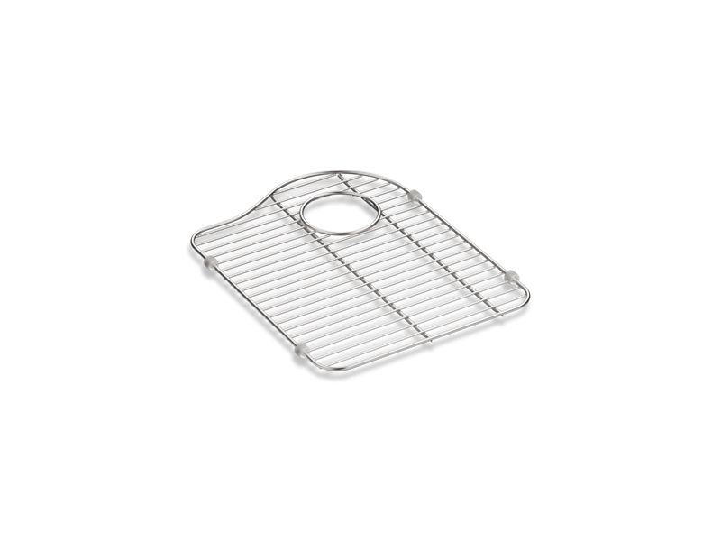 "Hartland® stainless steel sink rack, 13-1/8"" x 16-7/8"", for right-hand bowl, Stainless Steel"