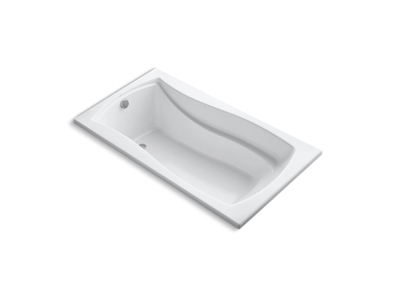 "Mariposa® 66"" x 36"" drop-in bath with reversible drain, White"
