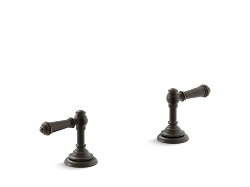 Artifacts® Bathroom sink lever handles, Oil-Rubbed Bronze
