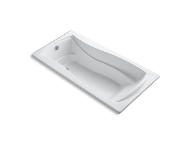 "Mariposa® 72"" x 36"" drop-in bath with reversible drain, White"