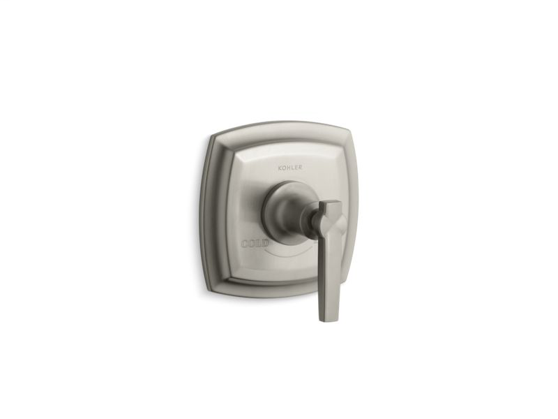 Margaux® valve trim with lever handle for thermostatic valve, requires valve, Vibrant Brushed Nickel