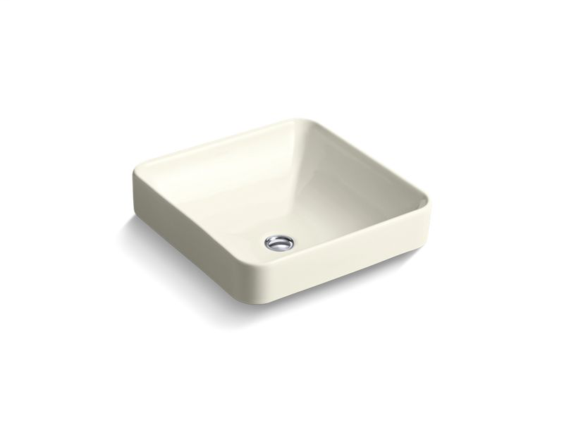 Vox® Square vessel bathroom sink, Biscuit