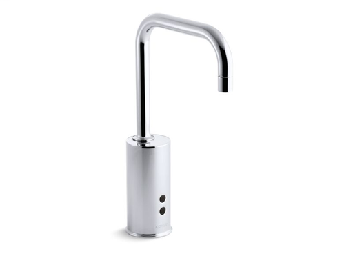 Gooseneck single-hole Touchless™ hybrid energy cell-powered commercial faucet with Insight™ technology, Polished Chrome