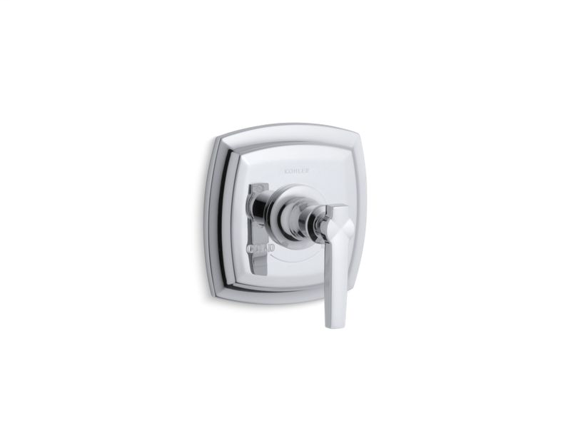 Margaux® valve trim with lever handle for thermostatic valve, requires valve, Polished Chrome