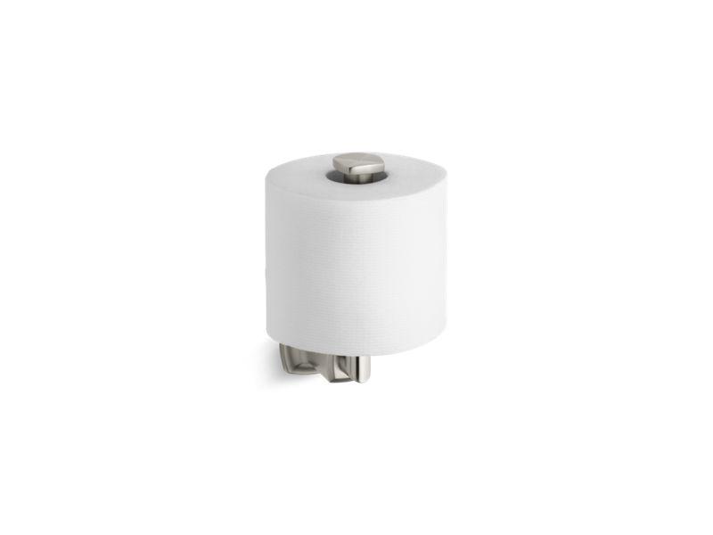 Margaux® vertical toilet tissue holder, Vibrant Brushed Nickel