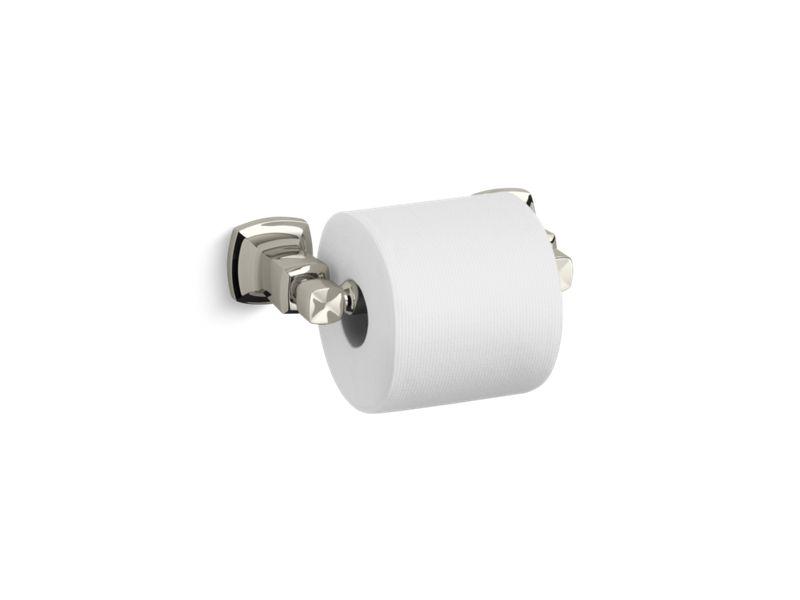 Margaux® horizontal toilet tissue holder, Vibrant Polished Nickel