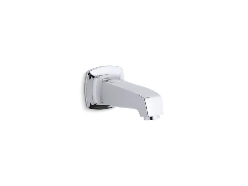 Margaux® wall-mount non-diverter bath spout, Polished Chrome