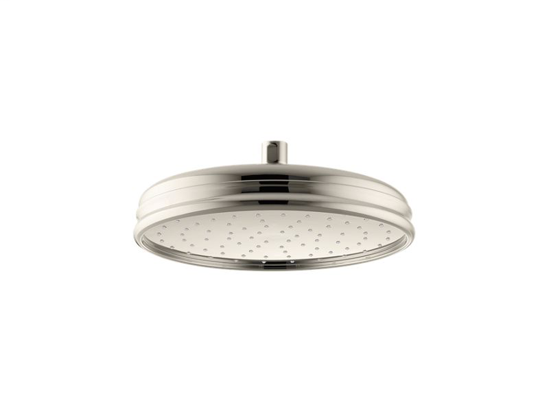 """10"""" Traditional Round 2.5 gpm rainhead with Katalyst® air-induction technology, Vibrant Polished Nickel"""