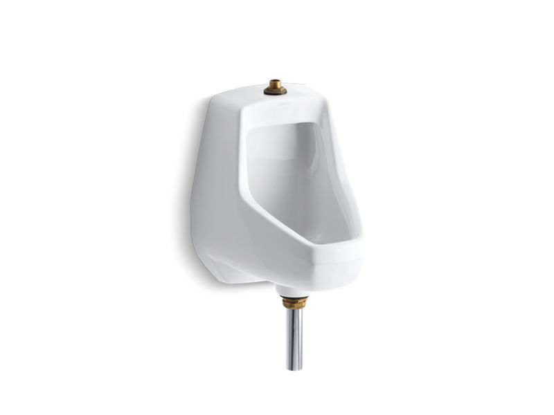 Darfield™ washdown wall-mount 1/2 gpf urinal with top spud and bottom outletfor exposed P-trap, White