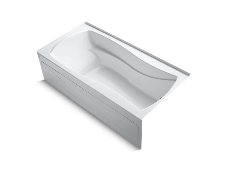 """Mariposa® 72"""" x 36"""" alcove bath with integral apron, integral flange and right-hand drain, White"""