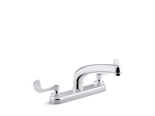 "Triton® Bowe® 1.5 gpm kitchen sink faucet with 8-3/16"" swing spout, aerated flow and wristblade handles, Polished Chrome"