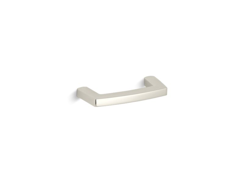 Margaux® pull cabinet hardware, Vibrant Polished Nickel