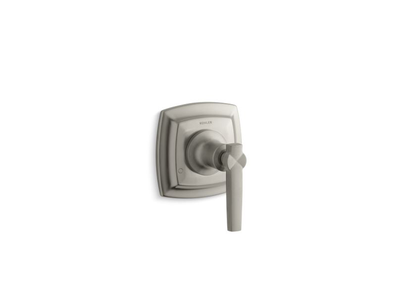 Margaux® valve trim with lever handle for transfer valve, requires valve, Vibrant Brushed Nickel