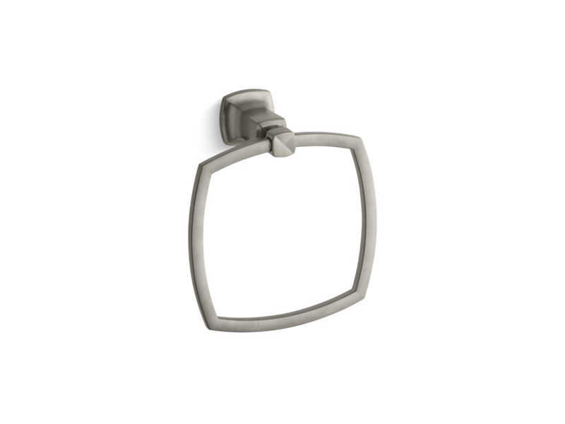 Margaux® towel ring, Vibrant Brushed Nickel