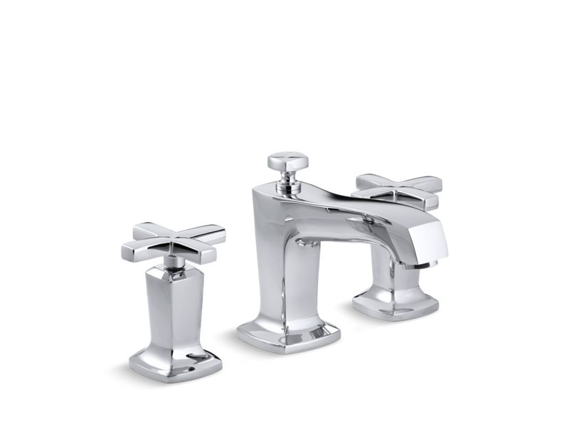 Margaux® Widespread bathroom sink faucet with cross handles, Polished Chrome