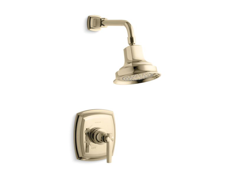 Margaux(r) Rite-Temp(r) shower trim set with lever handle, valve not included, Vibrant French Gold