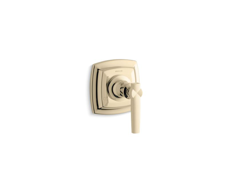 Margaux® valve trim with lever handle for transfer valve, requires valve, Vibrant French Gold