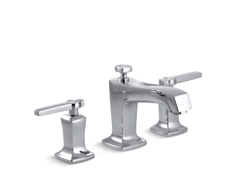 Margaux® Widespread bathroom sink faucet with lever handles, Polished Chrome