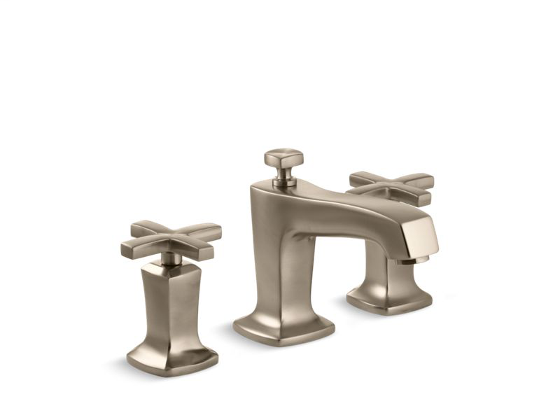Margaux® Widespread bathroom sink faucet with cross handles, Vibrant Brushed Bronze