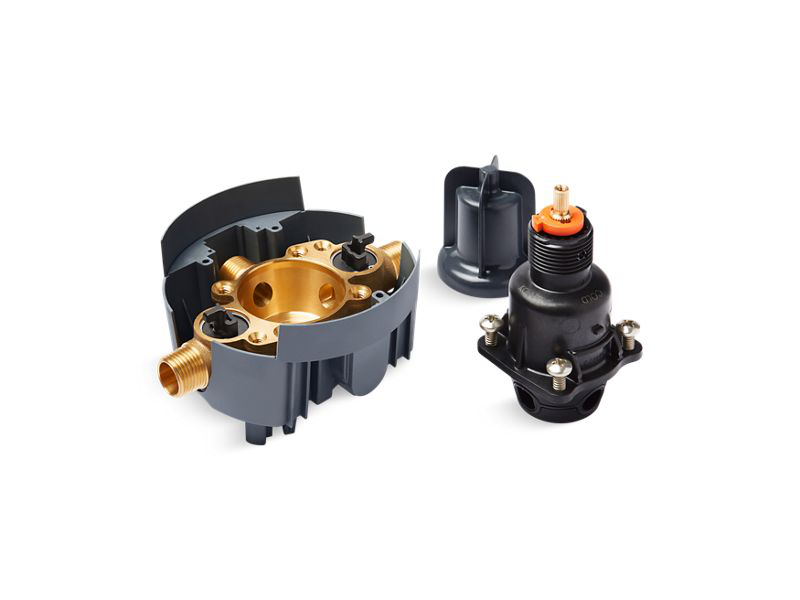 Rite-Temp® pressure-balancing valve body and cartridge kit with service stops, Not Applicable