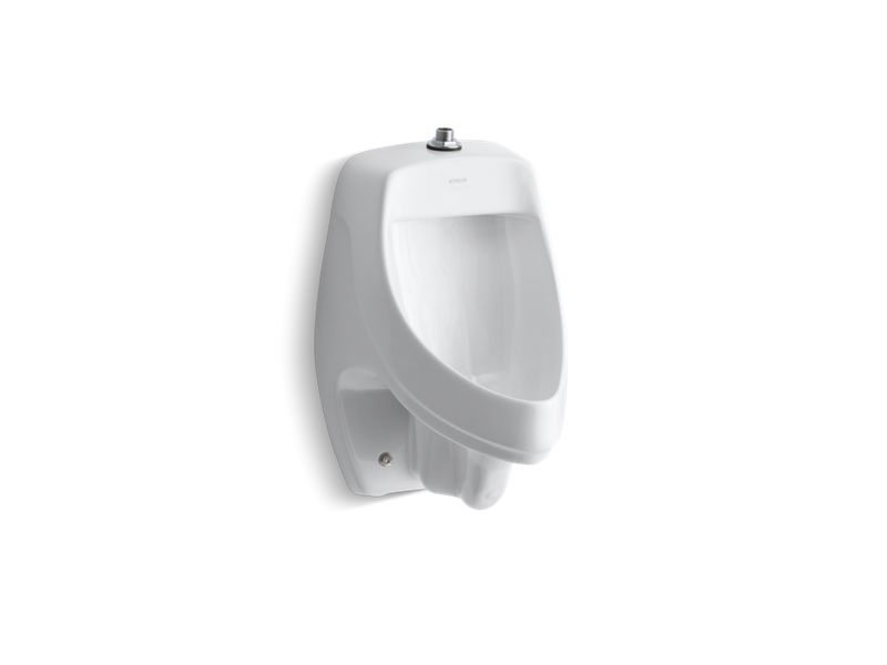 Dexter™ siphon-jet wall-mount 0.5 or 1.0 gpf urinal with top spud, White