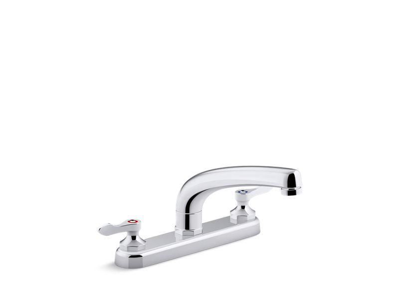 """Triton® Bowe® 1.5 gpm kitchen sink faucet with 8-3/16"""" swing spout, aerated flow and lever handles, Polished Chrome"""