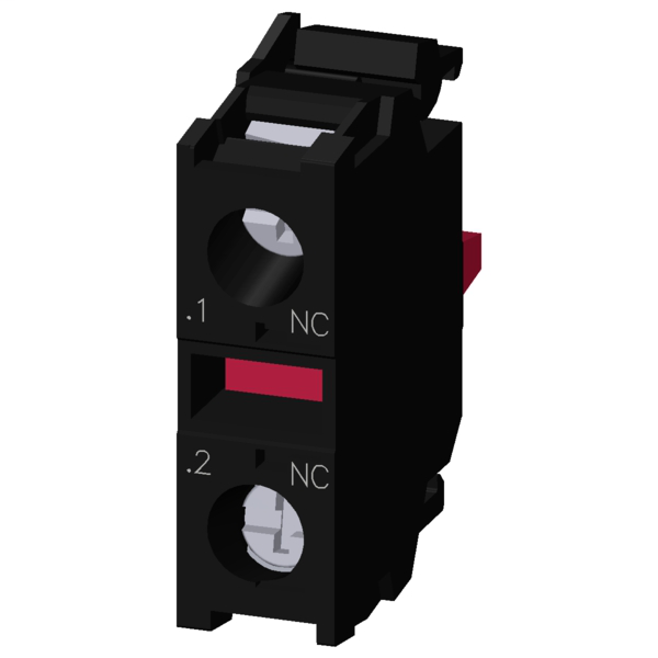CONTACT BLOCK, 1NC, FOR FRONT MOUNTING