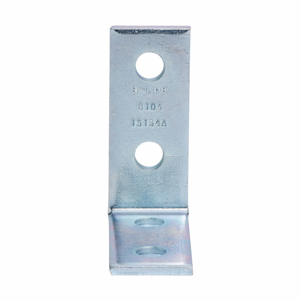 B-Line Series B104ZN Zinc Plated 4-Hole Corner Angle
