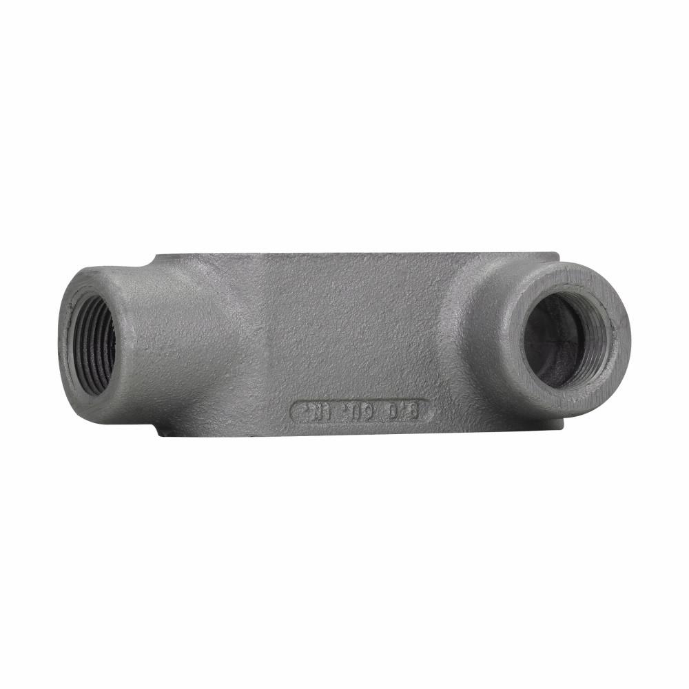 "Eaton Crouse-Hinds series Condulet Form 7 conduit outlet body, Feraloy iron alloy, L shape, 1"""