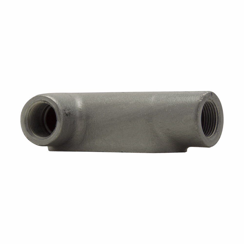 Eaton Crouse-Hinds series Condulet Form 7 conduit outlet body, Copper-free aluminum, LL shape, 2""
