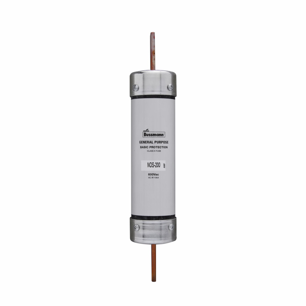Eaton Bussmann Series NOS Fuse, General Purpose Fuse, 125 A, 600 Vac, 10 kAIC at 600 Vac interrupt rating, Class H, Blade end X blade end connection, 1 unit, Rejection style