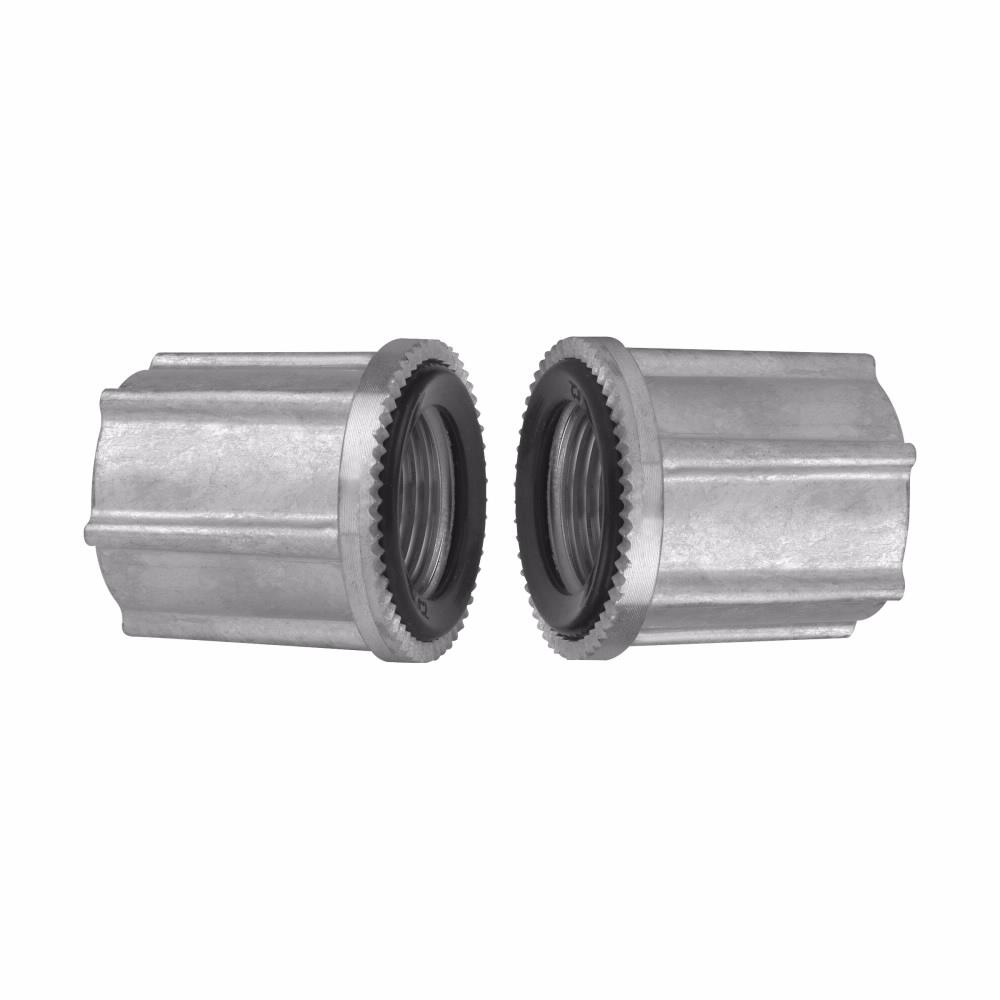 Crouse-Hinds Series STTTBA 1-1/2 Inch Aluminum Through Bulkhead Conduit Hub
