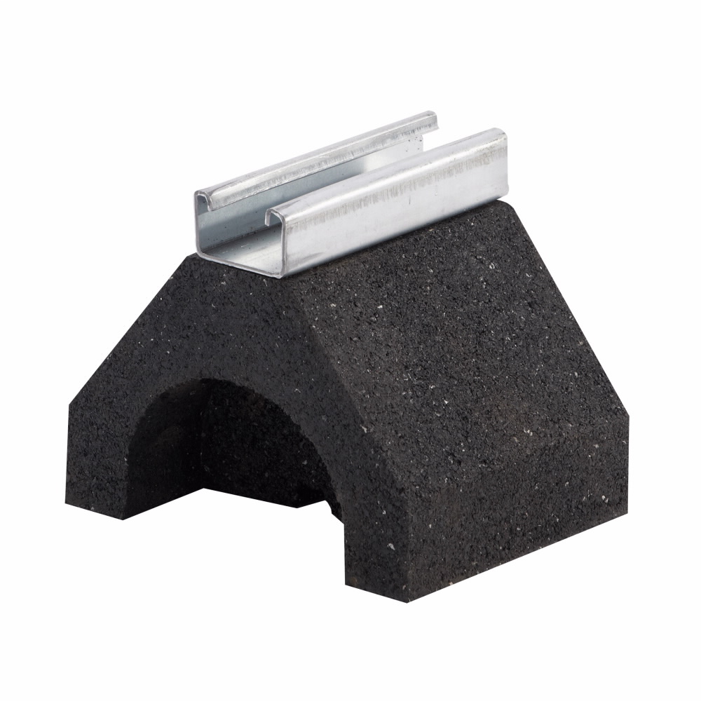 B-Line Series DB5 4.8 x 6 x 5 Inch Rubber Rooftop Support Channel Base