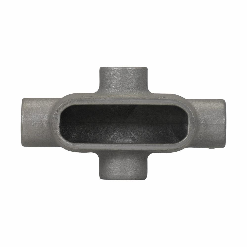 "Eaton Crouse-Hinds series Condulet Form 7 conduit outlet body, Feraloy iron alloy, X shape, 2"""